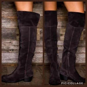 Dolce Vita Grey Suede Over the Knee boot 8.5